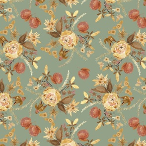 fall apple floral bundle on dusty sky