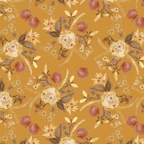 fall apple floral bundle on pumpkin