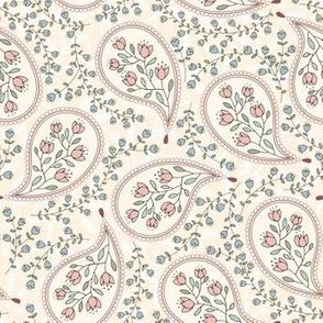 Paisleys and Flowers Cream