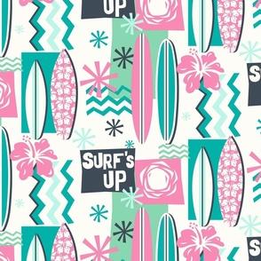 Surf's Up! aqua/pink