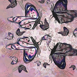 Floating Pink Butterflies