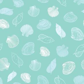 Seashells paradise aqua green lightblue