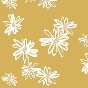 daisies - mustard and blush LARGE