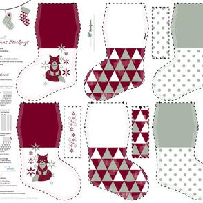 Small Christmas Stockings_Part2 / Cut-n-Sew / FQ