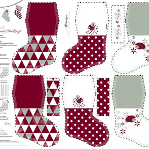 Small Christmas Stockings_Part3 / Cut-n-Sew / FQ