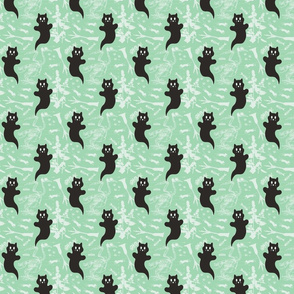 SMALL - Ghost Cats - mint