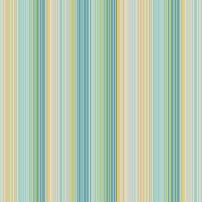 thin stripes blue green yellow tan