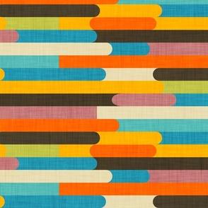 Retro Color Block Popsicle Sticks Orange _ Rotate