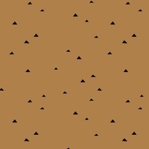 Little inky triangle confetti arrows abstract Scandinavian trend minimal basic nursery pattern mokka brown SMALL