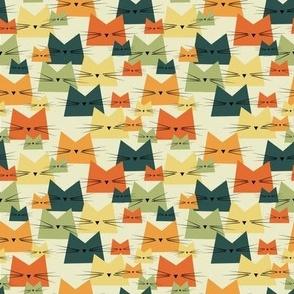 small scale cats - nala cat vintage - geometric cats