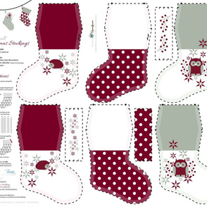 Small Christmas Stockings_Part4 / Cut-n-Sew / FQ