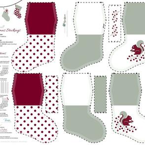 Small Christmas Stockings_Part5 / Cut-n-Sew / FQ