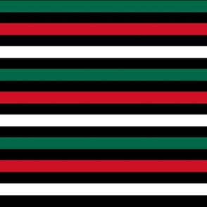mexico stripes fabric - red, white and green