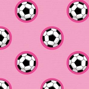 Pink Soccer/Football.