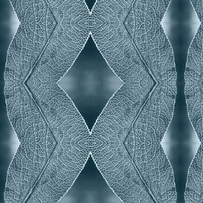 Leaf Macro in Misty Blue Gray