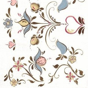 Pastel Swedish Rosemaling Folk art