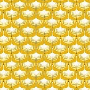 """Art Deco Swans - Golden Yellow, 1"""""""