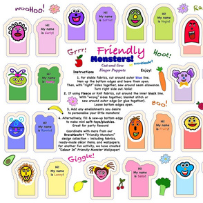 Friendly Monsters - finger puppets patterns