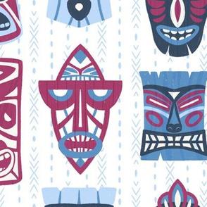 Hawaiian Tiki Faces