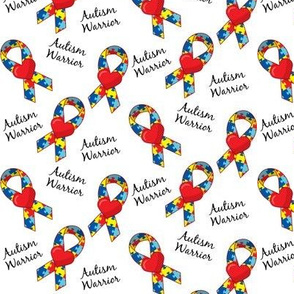 Small Scale Autism Warrior Ribbons