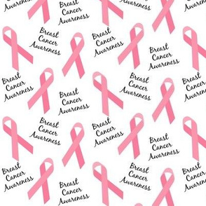 Small Scale Breast Cancer Awareness Ribbons