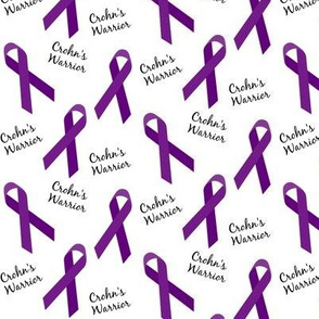 Small Scale Crohn's Warrior Ribbons