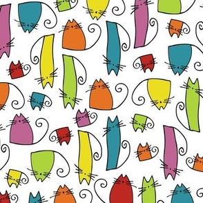 cats - tinkle cat colorful - hand-drawn cats