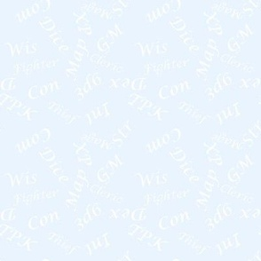 White Gamer Terms Large Scale Ice bg by Shari Lynn's Stitches