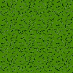 Black Gamer Terms Small Scale Poison Green bg by Shari Lynn's Stitches