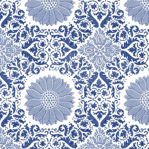 Napoleonic Fleurons & Anthemia Arabesque ~  Willow Ware Blue and White