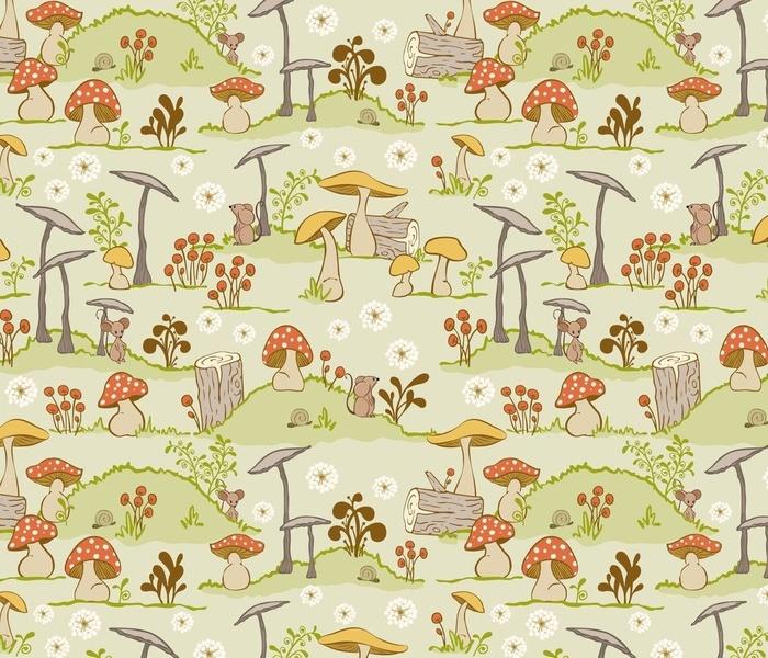 Woodland Mushrooms-Scene