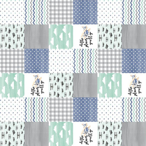 3 inch Oh the places you'll go//Retro Planes - Wholecloth Cheater Quilt - Rotated