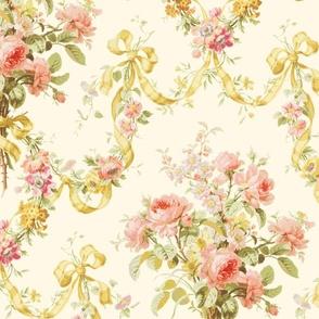 Queen Alexandra Floral Damask ~ Original on Cosmic Latte