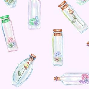 Bottled Garden Blooms