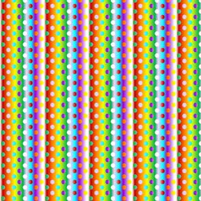 Medium 8 chakras colour gradient dots