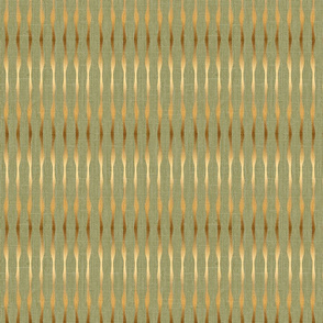 Gold stripes on green