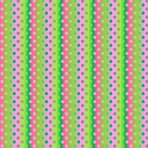 Medium pink green shades gradient dots
