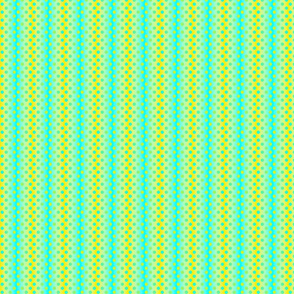Petite yellow aqua gradient dots