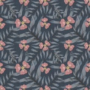 Bella Nora blue and pink pattern