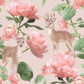 Deers & Roses