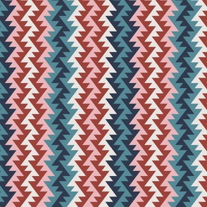 Bohemian tribal African colorful geometric zig-zag triangles stripes Wallpaper Fabric