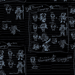 DnD Memories-OurGang2 - Slate Blue Black