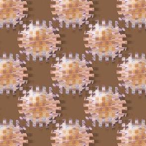 CPD6 - Medium - Cogs from the Wheel  Polka Dots - Brown - Orange - Purple