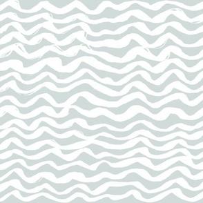 Beach Nautical artistic Waves light gray white