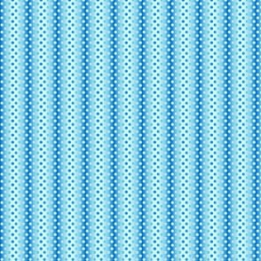 Petite sky blue shades gradient dots