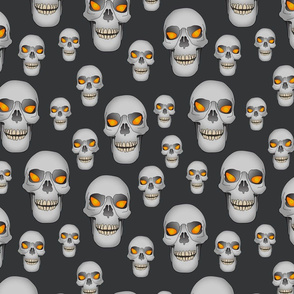 Goth Skull On Black