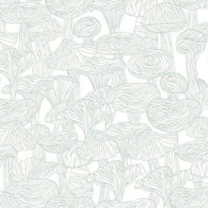 Lineart mushrooms