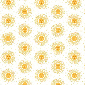 Golden Sun - white goldenrod yellow - medium