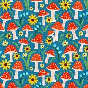 Retro Mushroom Garden