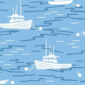 Harbor Boats light blue large